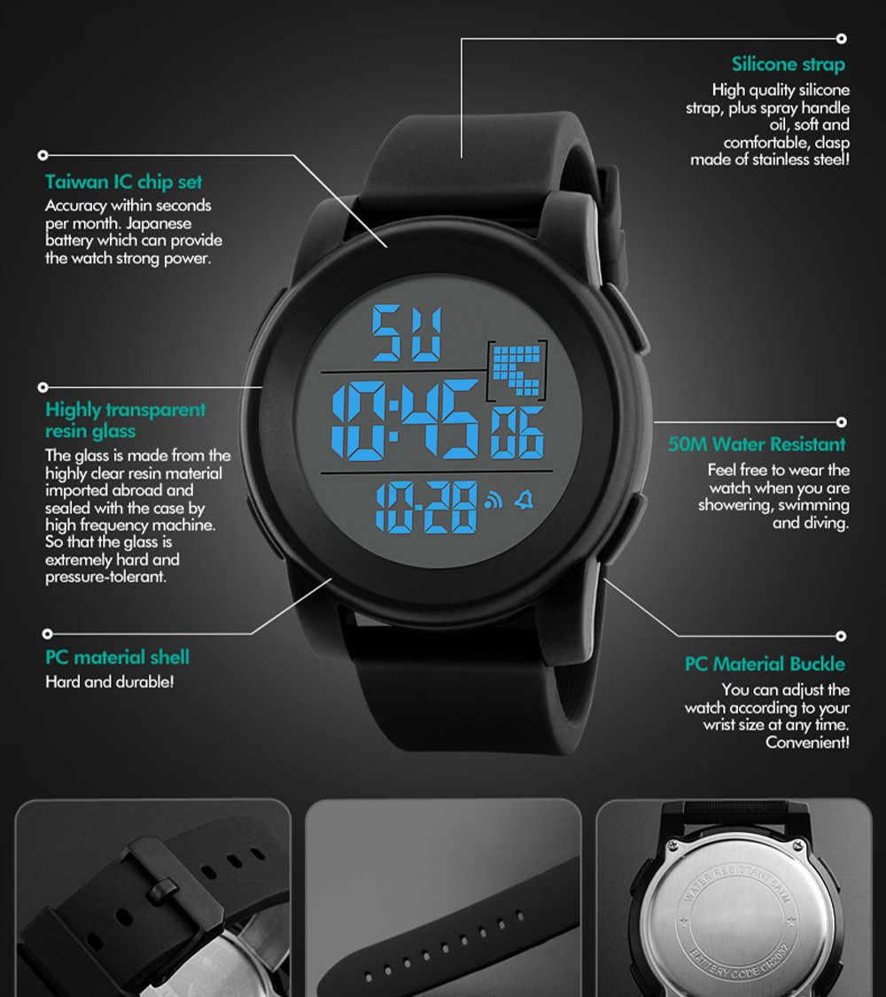 Relógio masculino luxuoso militar esportivo, analógico digital led à prova d'água eletrônico, moda, gif, relógio para homens, esporte ao ar livre