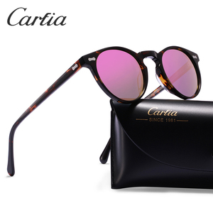 Image 3 - Carfia偏光サングラスクラシックブランドデザイナーグレゴリーつつくヴィンテージサングラス男性の女性ラウンドサングラス 100% UV400 5288