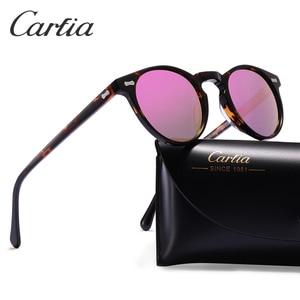 Image 3 - Carfiaแว่นตากันแดดPolarizedคลาสสิกยี่ห้อDesigner Gregory Peck Vintageแว่นตากันแดดผู้ชายผู้หญิงรอบดวงอาทิตย์แว่นตา 100% UV400 5288