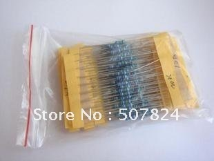 Resistor / 1/4W Metal film  Resistor / 10ohm-1Mohm Resistors / 32 Types Resistor / Shipping Free