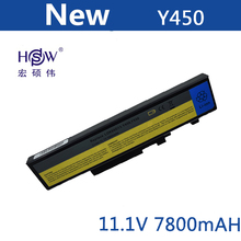 7800mAh Laptop battery For Lenovo IdeaPad Y450a 55Y2054 L08L6D13 L08O6D13 L08S6D13 Y550