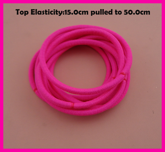 113PCS 13mm Top Elasticity Neon Fushia Seamless Elastic Ponytail ...