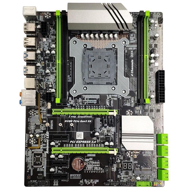 X99 LGA2011-3 Motherboard for Intel I7 E5 4-Channel DDR4 2133/2400/2800 32G RAM,NVME SSD M.2,SATA2.0,USB3.0,PCIE16X slots