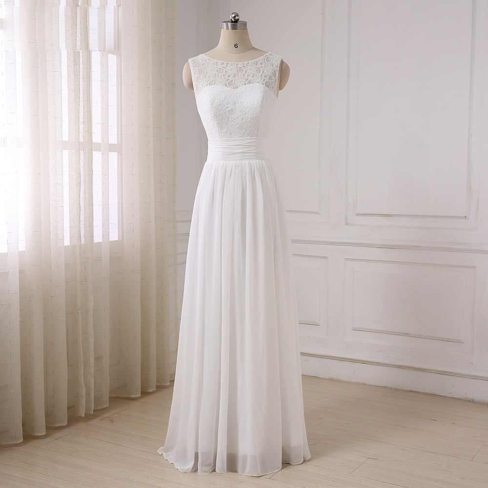 ADLN Cheap Chiffon Wedding Dresses Summer Cap Sleeve Beach Wedding Gowns Floor Length Plus Size Bride Dress