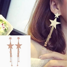 Hot Style High Quality Fashion Long Pendant Personality Temperament Star Tassel Earrings Wholesale Gifts