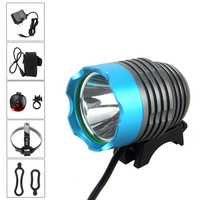 5000Lm XML T6 LED Front Bicycle Bike Light Headlamp Torch Flashlight Laser Light with Battery Set