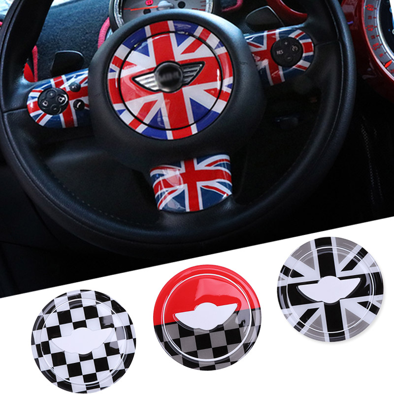 3D ABS StickerCar Steering Wheel For Mini Cooper Countryman JCW R55 R56 R60  Mini Cooper Accessories Car Styling