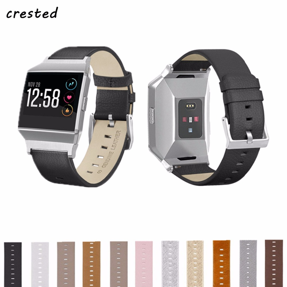 CRESTED Leather Strap Band For Fitbit Ionic smartwatch Replacement Bracelet Wristband wrist watch watchband for Fitbit Ionic фен elchim 3900 healthy ionic red 03073 07
