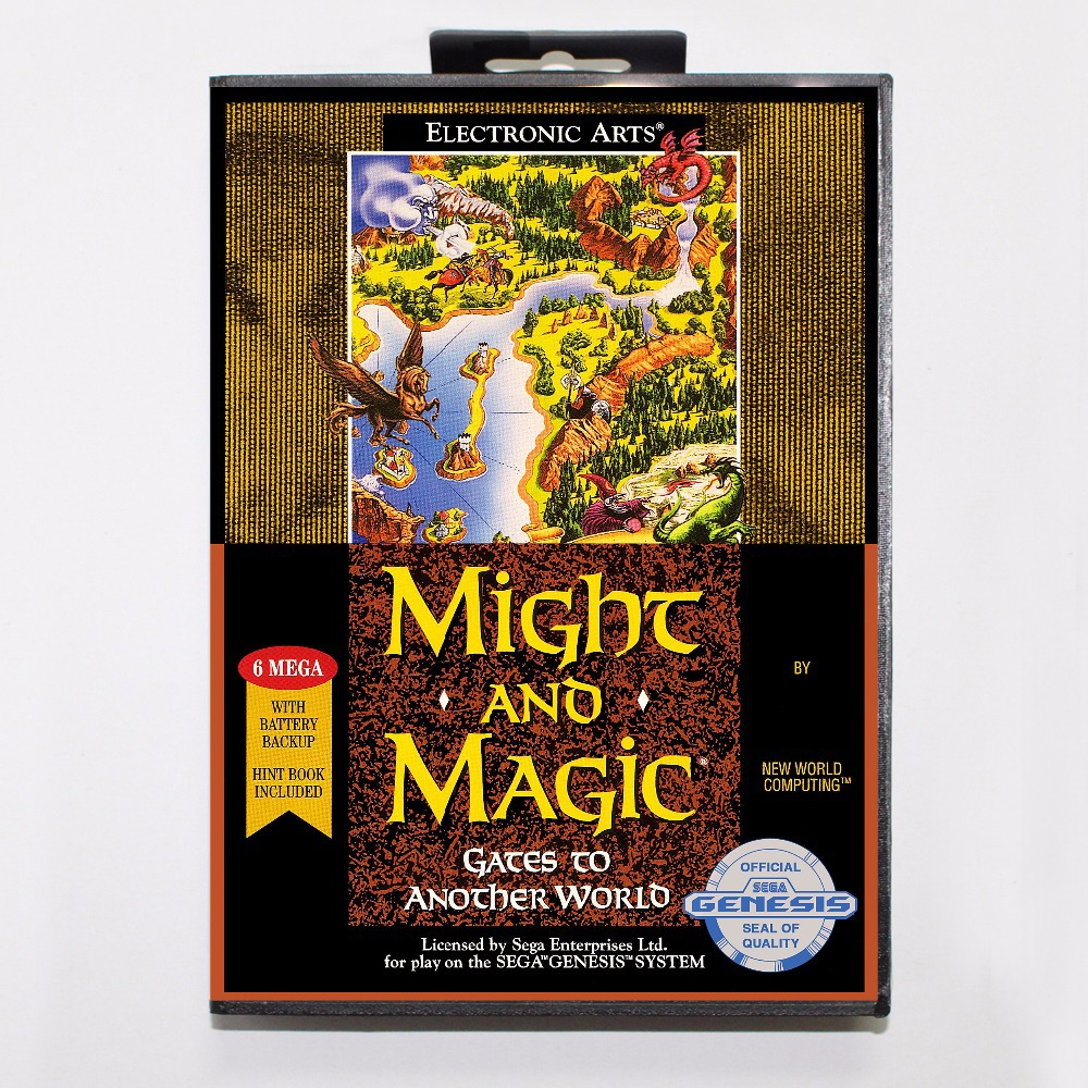 Might and Magic II Gates to Another World Game Cartridge 16 bit MD Game Card With Retail Box For Sega Mega Drive For Genesis
