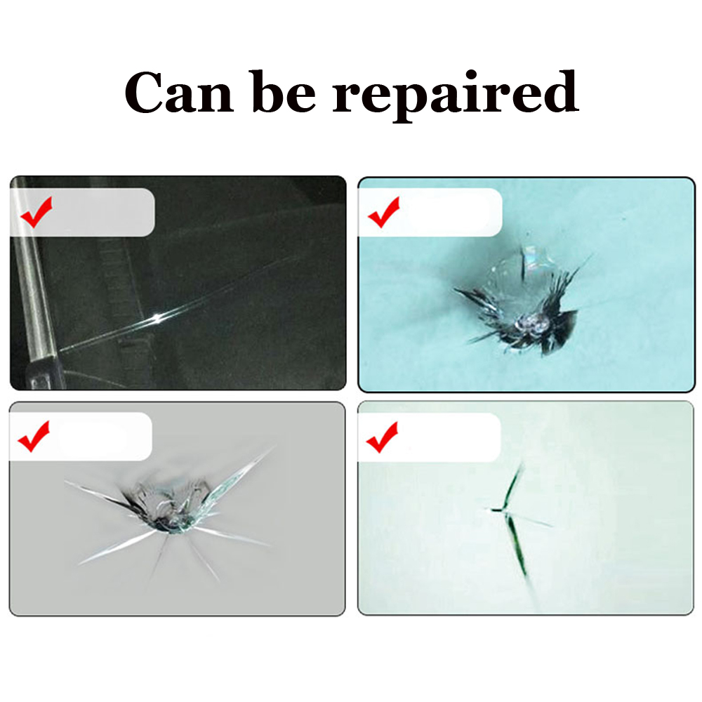 Styling-auto This~Magic Repairs Kits Can Repair Cracked Phone Screen Windshield And All Glass Yellow 1 Piece  Instruction Sheet