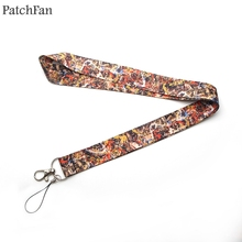 Patchfan New Arrival Jackson Pollock neck lanyards for keys glasses card holder bead keychain phones cameras webbing A0340