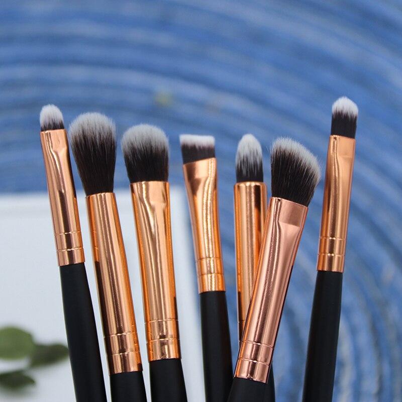 BBL 7 Essential Makeup Eye Brush Set - Eyeshadow Eyelash Eyeliner Tapered Blending Crease Kit Make Up Brushes Pincel Maquiagem 4