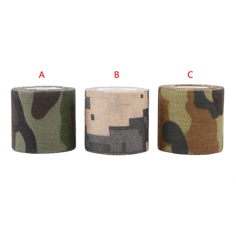 Image 4 - Army Non Woven Cohesive Bandage 5M Self adhesive Non woven Camouflage Cohesive Camping Hunting Stealth Tape-in Outdoor Tools from Sports & Entertainment