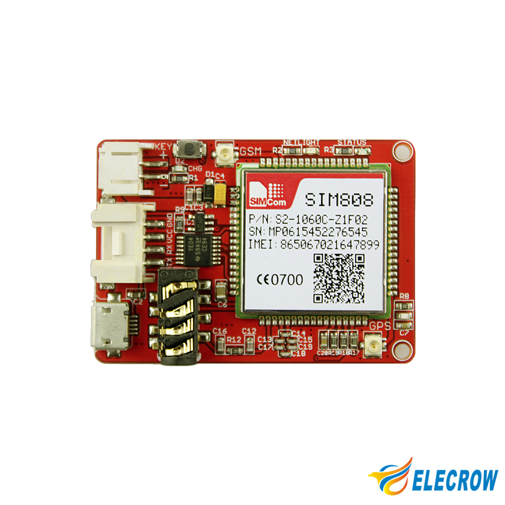 Elecrow Sim808 Module Gprs Gsm Gps Development Board Quad Band 22 Circuit Buy Boardgps Tracking Pcbgps 66 Acquisition 37v Diy Location Kit In Integrated Circuits From