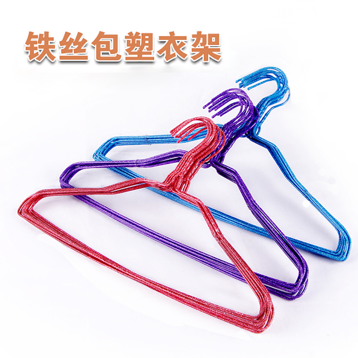 Home iron wire steel racks hangers dip clothes rack clothes, child support