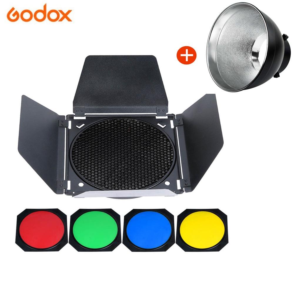 Réflecteur de montage Bowens Standard pour Studio Godox + BD-04 Godox-grille en nid d'abeille