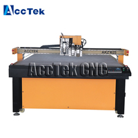 AccTek cutting machine cnc oscillating knife cutting machine special for board, carton box textile AKZ1625