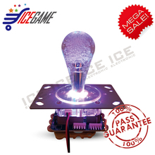 2PCS a lot colorful game joystick two connector toy machine joustick change colors light  game controller
