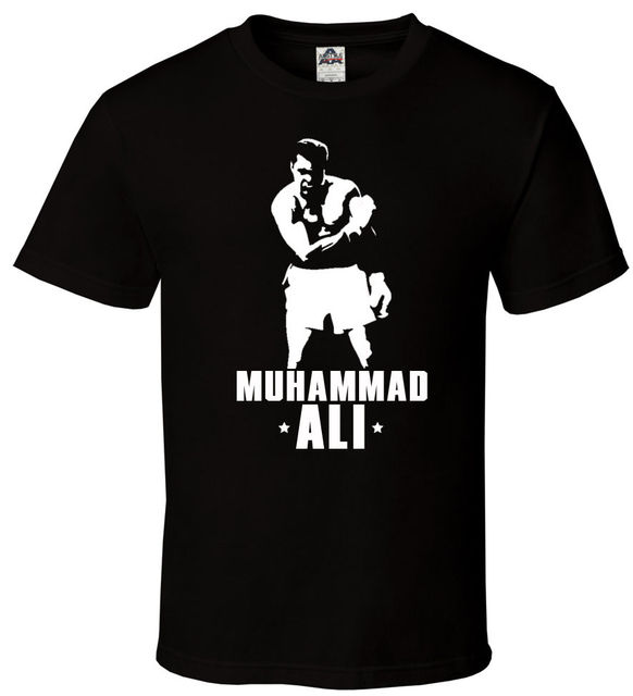 muhammad ali black t shirt all sizes s 2xl 100 legend boxer goat