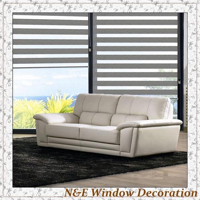 100% Blackout Window Blinds Zebra Roller Blinds Shades And Room Divider  Curtain For Living Room