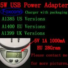 10 шт./партия AAAAA A1400 ЕС штекер USB AC зарядное устройство настенный адаптер для iPhone x 8 7 plus 6s 6 plus 5s 5C 5 с розничной коробкой 28 грамм