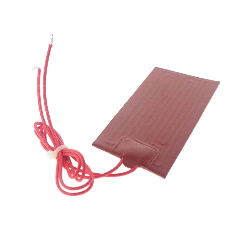 Almofada impermeável flexível do calefator do silicone do retângulo de 12 v dc 40x50mm 8 w para o tanque de óleo