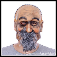Free Shipping Terror Halloween Party Cosplay Mask Oldman Face All Saints Latex Mask Wholesale Festive Party
