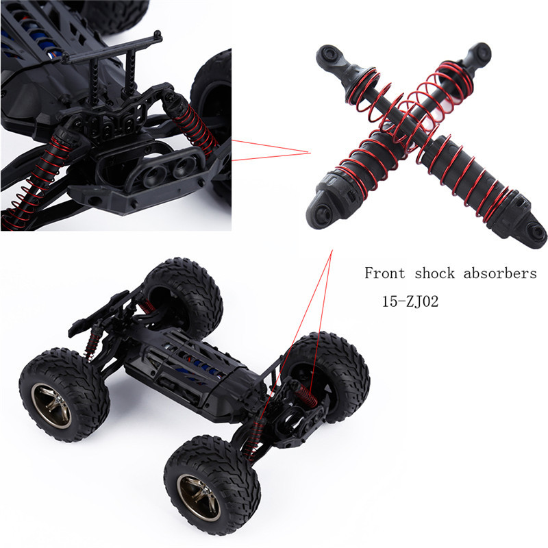 Hot 15-ZJ02 Front Shock Absorbers Car Parts for S911/S912 RC Car Models Racing RC Car HSP Off Road Monster Truck Shock Absorbers metal front differential assembly for fg monster hummer truck rovan big monster rc car parts