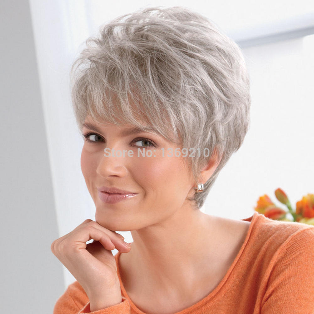 Best Quality Synthetic Hair White Short Venation Hairstyle ...