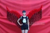 Costumed Gold Adults Angel Feather Wings For Fashion Show Catwalk Event Stage Performance Props EMS Free