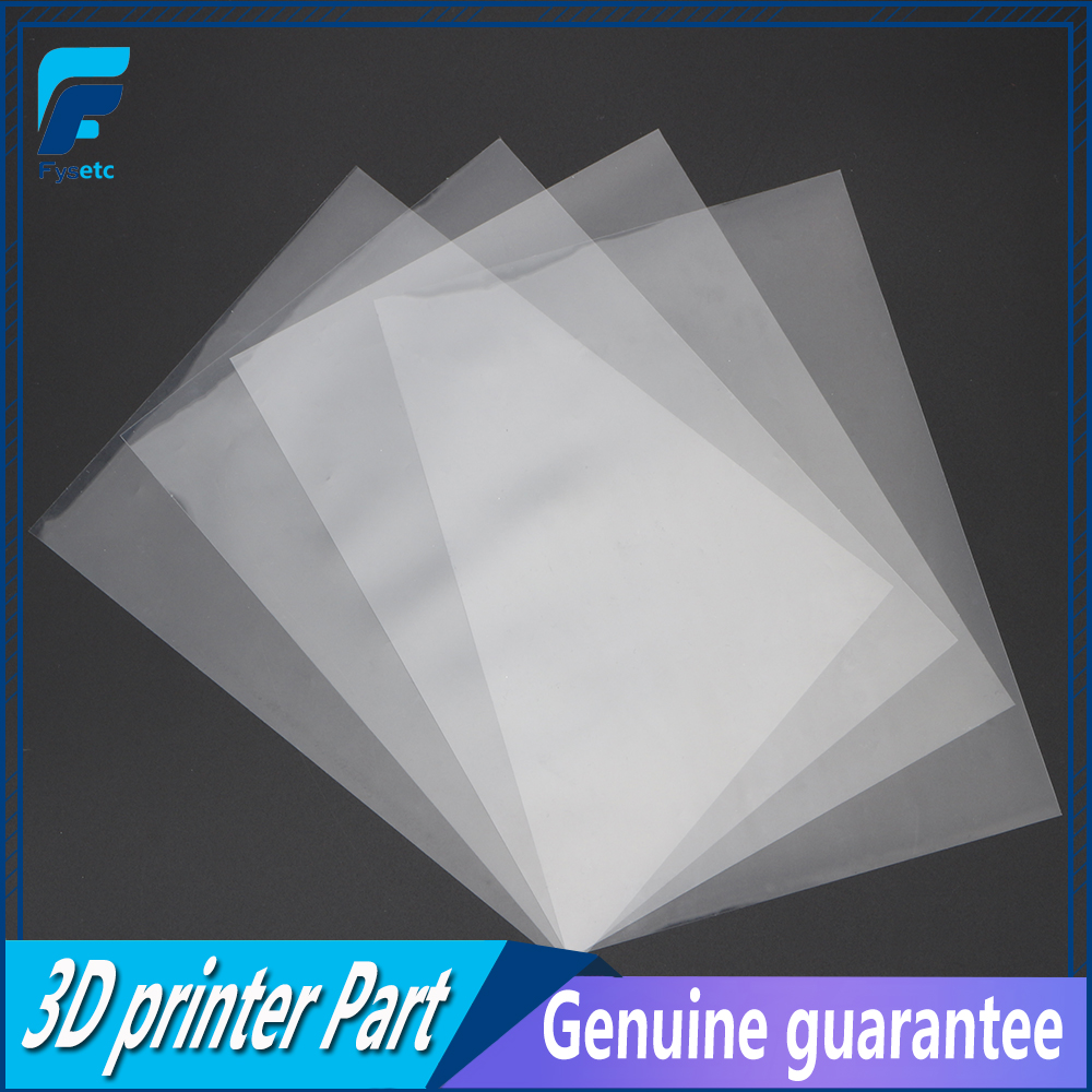 цена 4 sheets FEP Film 242*147*0.1mm DLP LCD SLA Resin 3D Printer For Wanhao Duplicator D7, Proniks KLD-LCD1260, YHD-101