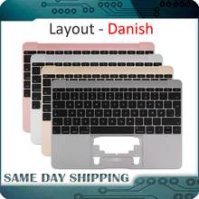For Macbook 12 A1534 Danish Denish Danmark Topcase Top Case with Keyboard Gold/Gray Grey/Silver/Rose Gold Color 2015 2017