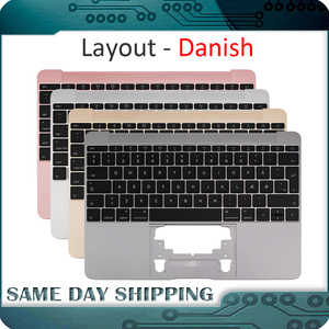 Image 1 - For Macbook 12 A1534 Danish Denish Danmark Topcase Top Case with Keyboard Gold/Gray Grey/Silver/Rose Gold Color 2015 2017