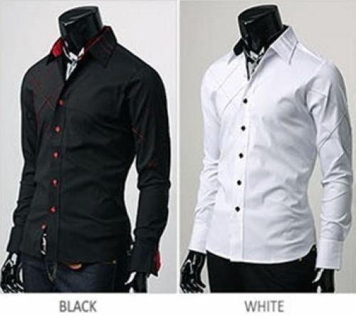 Online Shop Men's Shirt Fashion Korean Luxury Fit Slim Stylish ...