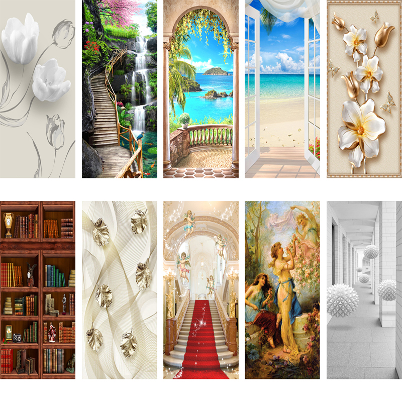 Mural Wallpaper Poster Door-Decal 3d-Door-Sticker Self-Adhesive Waterproof PVC 020 Removable title=