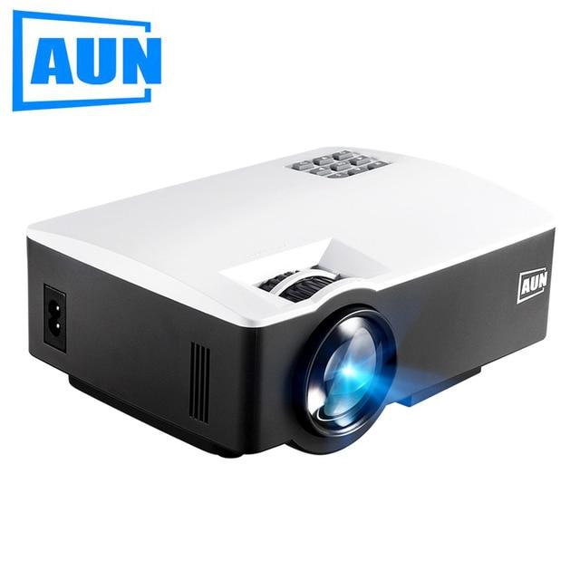 Аун проектор AKEY1, 1800 люмен светодиодный проектор, (опционально AKEY1Plus, Встроенный Android 6, WI-FI, bluetooth, Поддержка 4 К видео), HDMI