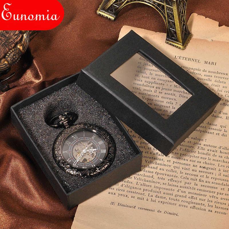 Новое поступление классные роскошные мужские модные часы с necklace ем винтажные стимпанк ручной Ветер Механические карманные часы Роскошный подарок классный