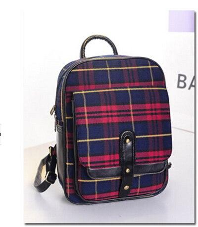 2015 printemps nouveaux sacs d'école britannique rétro amour selon la grille version coréenne de la tendance mme sacs