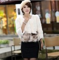 Real Fur Jacket Women Genuine Raccoon Fur Rabbit Fur Three Quarter Sleeve Short Design Coat 13 Colors S-XXXL Drop Free Shipping
