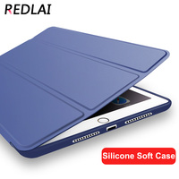 Upgrade Design Ultra Thin Full Silicone Soft Back Case Hight Quality Leather Smart Cover Case For