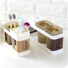 Bathroom Toothbrush Toothpaste Cups Storage Shelf Holder Cup Toothbrush Box Tooth Toothpaste Cup Storage Racks
