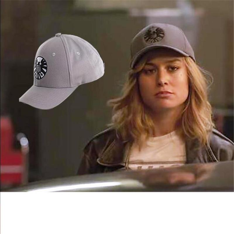 Moviel Unisex Captain Marvel Carol Danvers Hats Caps Adjustable Hip hop Baseball S.H.I.E.L.D. Sign Cosplay Caps