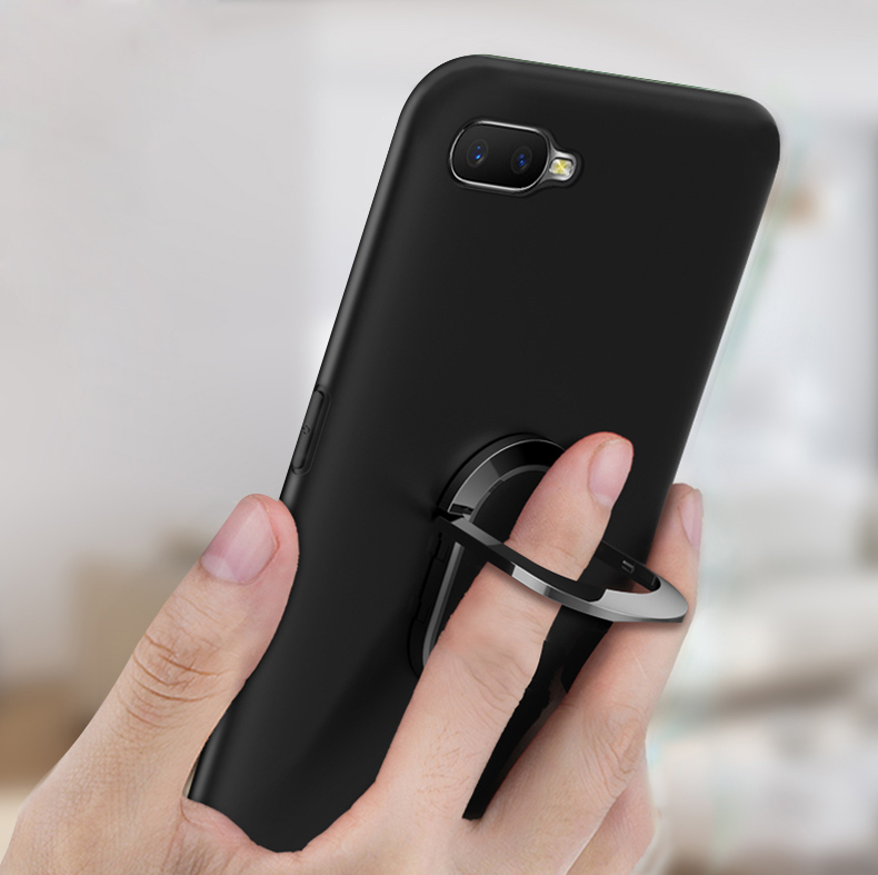 OPPO A1K Case OPPOA1K Soft Case Finger Ring Magnet Matte Protector Coque On For OPPO A1K CPH1923 A 1K OPPOA1K