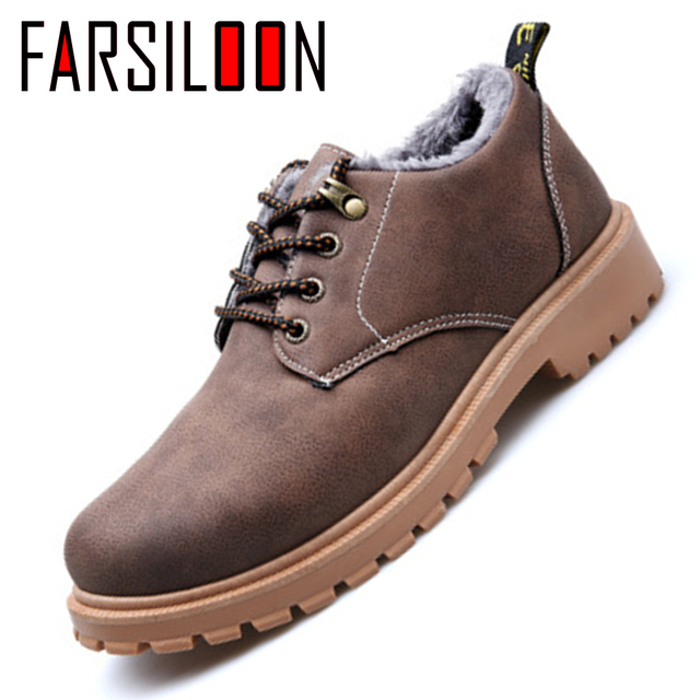995dd2b7997 Winter Men s Casual Shoes Velvet Warm Comfortable Soft Boots Cotton Soes  Round Head Tooling Shoes Fashion Trend JLL040