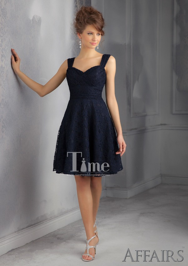 Short Navy Blue Bridesmaid Dresses Uk All Color Knee Length 2017 New
