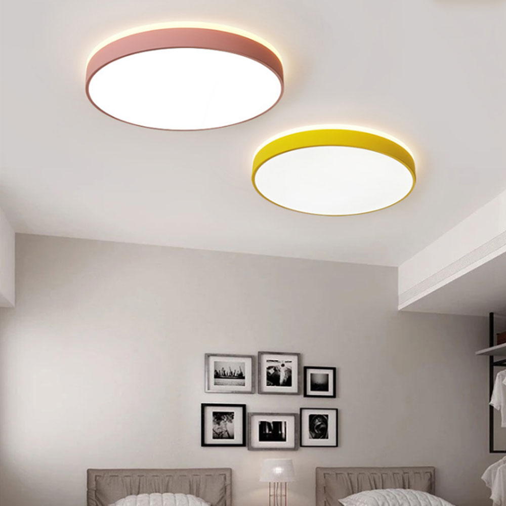 Led Ceiling Light Modern Lamp Living Room Lighting Fixture Bedroom Kitchen Surface Mount Flush Panel Remote Control Ceiling Lights & Fans