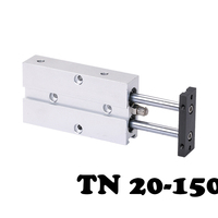 Free shipping TN20 150 Two axis double bar cylinder cylinder Dual Action Cylinder Type With Magnet Pneumatic Air Cylinder