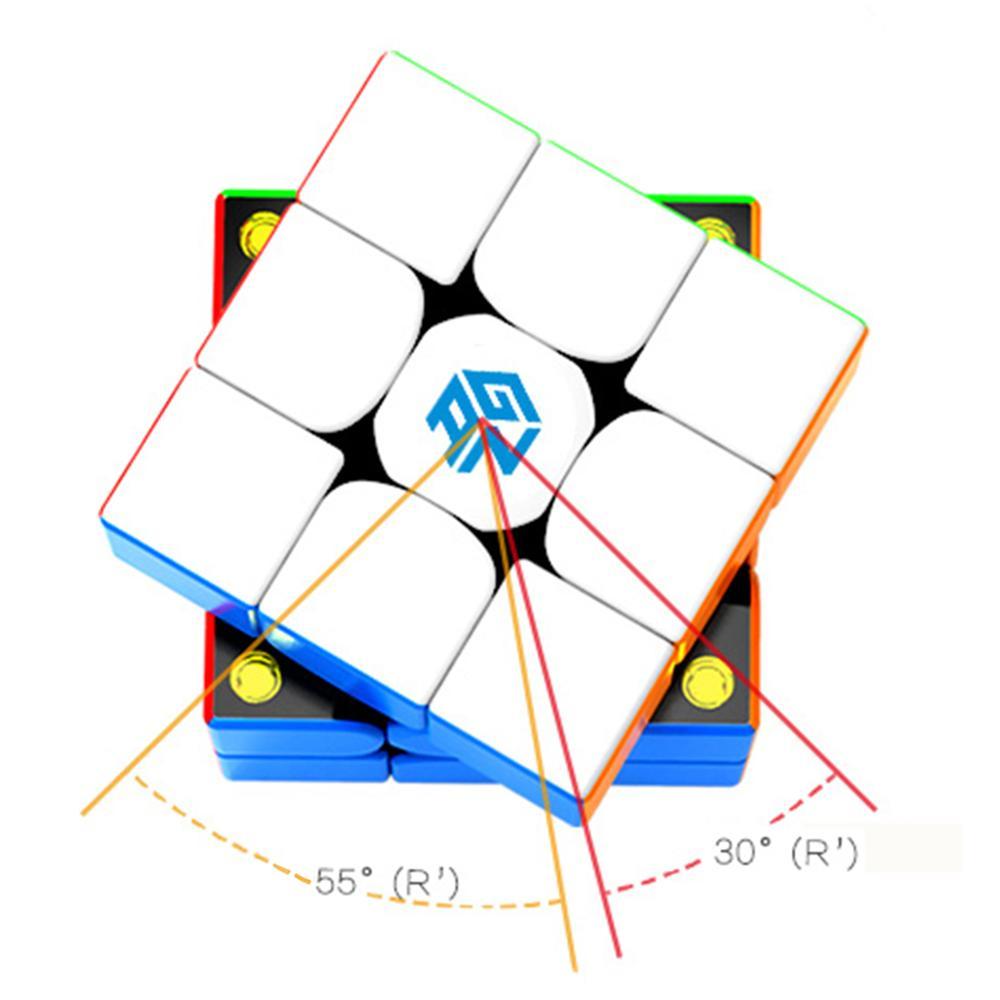 2019 New Arrivals GAN354M 3x3x3 siła magnetyczna magiczna kostka łamigłówka puzzle zabawki-kolorowe