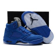 aa35e59f9123 Los niños de 5 zapatos de los niños zapatos de baloncesto bebé zapatillas  aire nos Roja de Jordania de gamuza azul metálico de p.