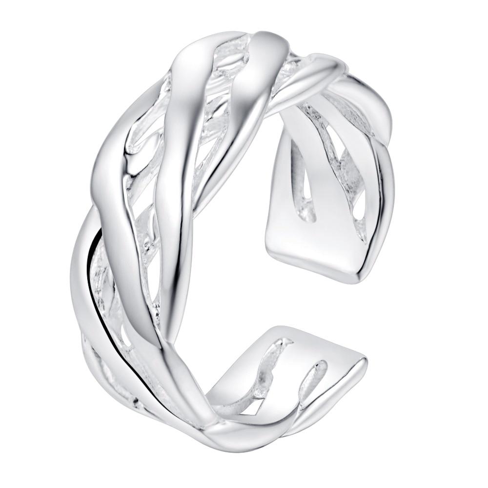 helical open beautiful Silver plated Ring Fashion Jewerly Ring Women&Men , /TUMMVSYP FGPOZBAC